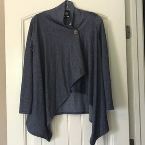 Bobeau One Button Wrap Cardigan
